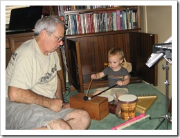 Reid & Grampa make music - Oct. 2010