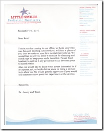 Letter from Dr. Jenny