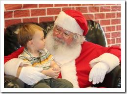 Reid meets Santa - Dec. 4, 2010