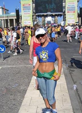 brazil football chick