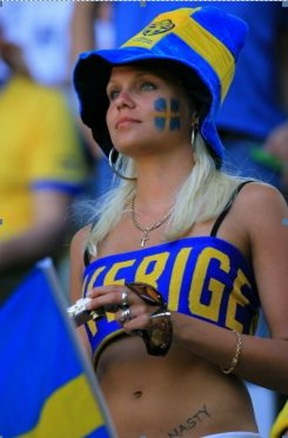 swedish football chick