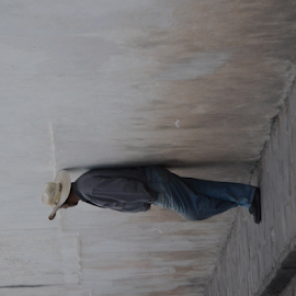TIEMPO by Brian  Boyle - People Portraits of Men ( tiempo, photograph, hombre, waiting, caballaro, street, brian boyle, street scene, portrait, photography, passar, time, resting, taking time, photographer, sombrero, rest, bb, dignity, wall, macho, yukonbrianboyle, sidewalk )