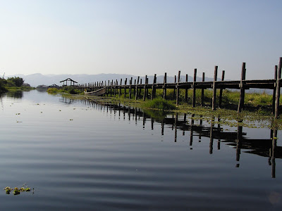 Inle Maing Thauk wooden bridge