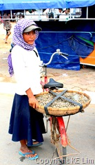 Cockles seller