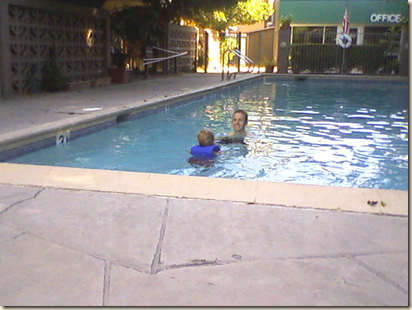jared and Christian in pool 8-24-09