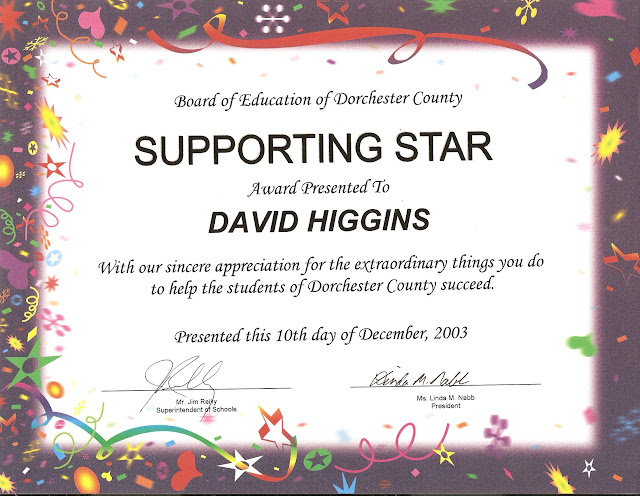 Dorchester County Supporting Star Award