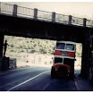 Casper being guided under bridge at Dubrovnik 1980.JPG