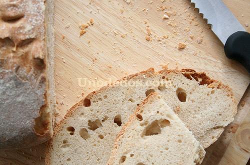 Pan con masa madre natural