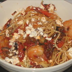Pasta with Spicy Shrimp and Sun-dried Tomatoes