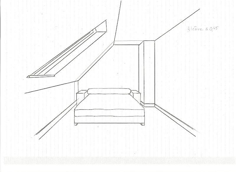 Chambre en perspective dessin for Dessin chambre en perspective