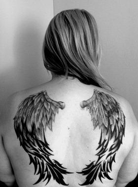wings tattoo design, angel wing tattoo