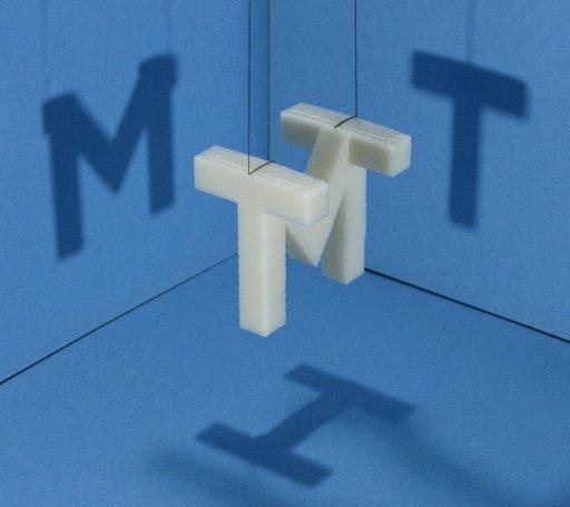 MITの三面図ロゴ(MIT Shadow Sculpture) + monogocoro