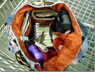 jeans bag inside