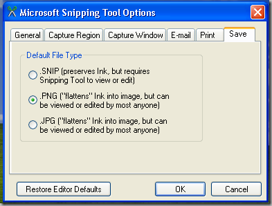 Snipping Tool Windows Xp