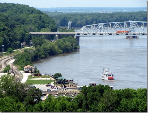 Hannibal Riverfront View from Lover's Leap
