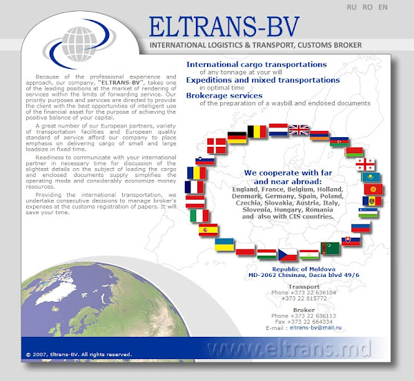 eltrans.md - International logistics and transport, customs broker