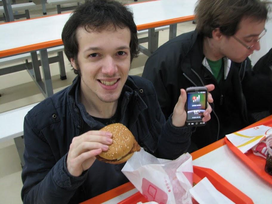 Ludo et son hamburger