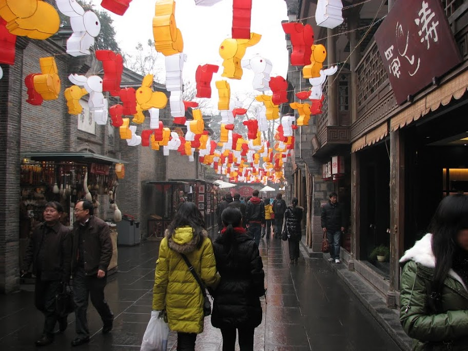 La rue touristique.