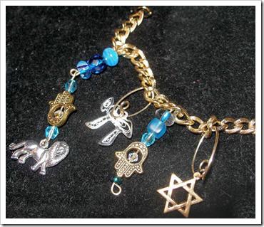 Mostly Vintage Judaica Charm Bracelet