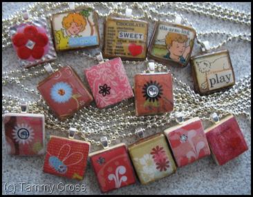 Scrabble Tile Charm Necklaces