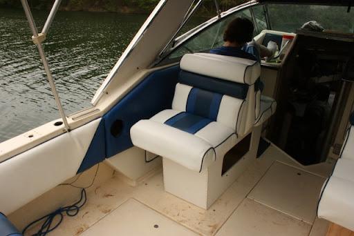redoing boat seats club sea ray