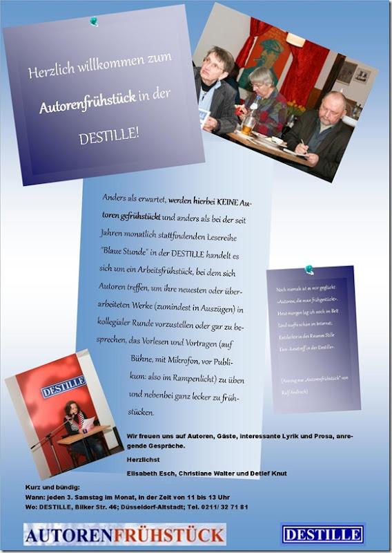 Autorenfrühstück Flyer