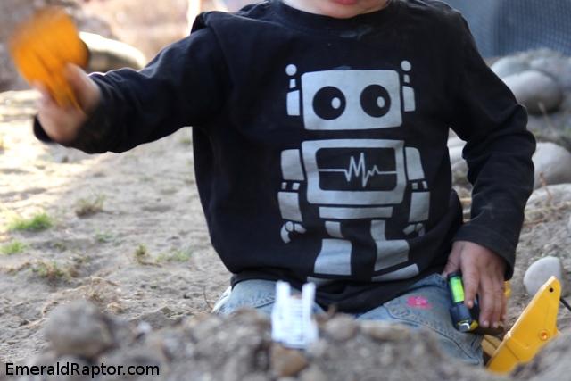 Robotgenser, genser med robot på