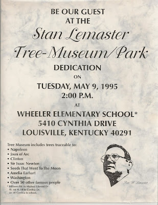dedication invitation, Wheeler tree museum