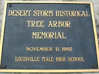 Desert Storm Memorial Tree arbor Male High School