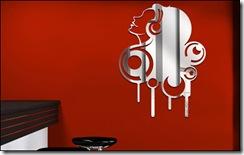 miroir silhouette musicale
