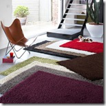 tapis design shaggy