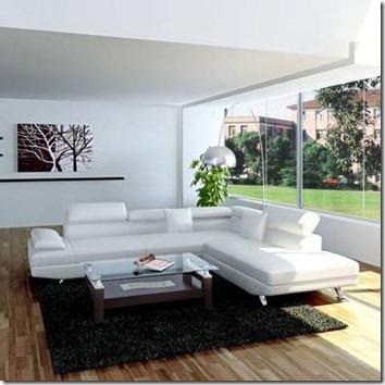 canapé d'angle cuir Parma