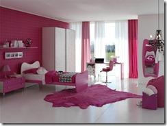 chambre rose & blanc