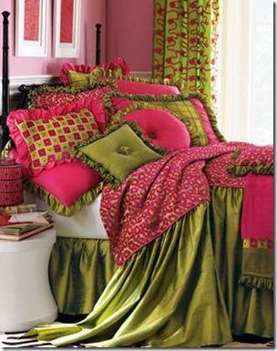 déco rose & vert
