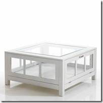 table basse vitrine blanche