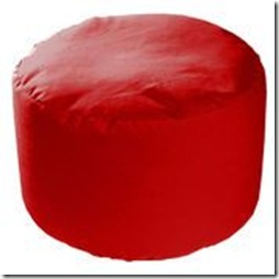 pouf rouge