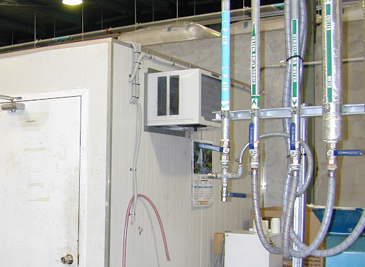 Chilled water systems in residential HVAC systems are extremely rare. A typical chiller uses the process of refrigeration to chill water in a chiller barrel. This water
