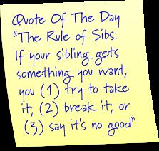 Sibling rules