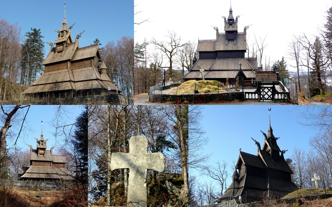 Fantoft stavkirke collage