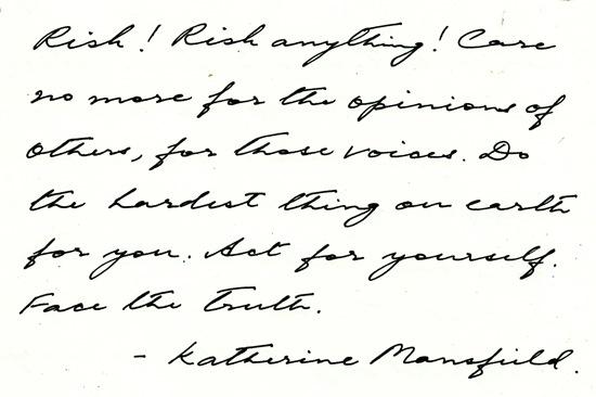 1 Quote - Katherine Mansfield