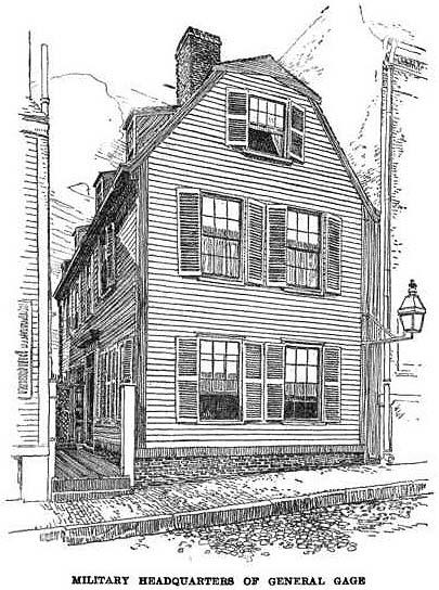 Pleasant Boston 1775 Military Headquarters Of General Gage Download Free Architecture Designs Scobabritishbridgeorg
