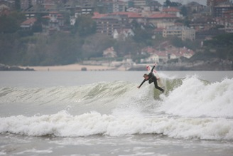 Tom Good Surfing NS Boards in Spain