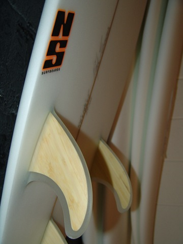 NS Boards Bamboo fins