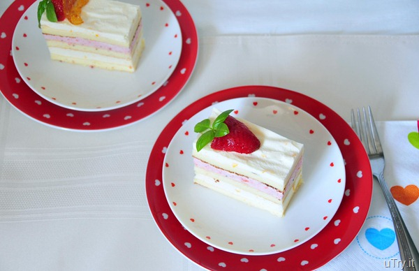 DMeyer Lemon and Strawberry Mousse Cakes