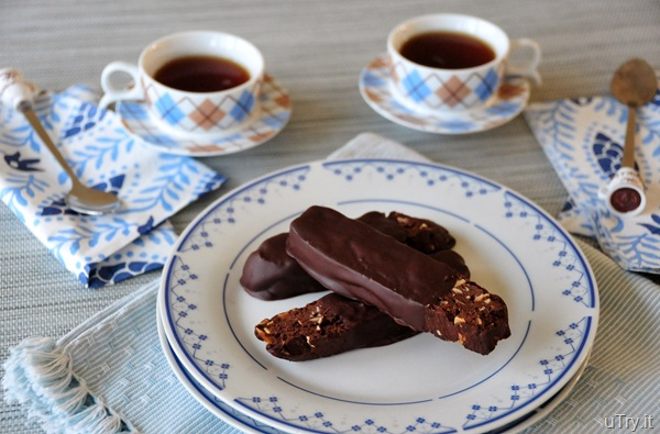 Bittersweet Chocolate Dipped Almond Biscotti