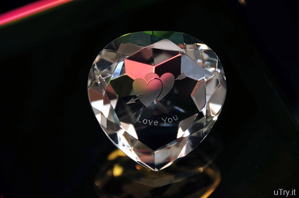 Heart shaped crystal