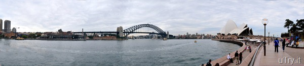 Opera House and Sydney Bridge Panorama