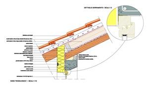 Una casa di classe a il tetto posa e stratigrafia for Tettoia inclinata del tetto
