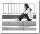Adolescente pensativa