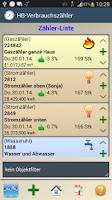 Screenshot of HB-Verbrauchszähler Lite